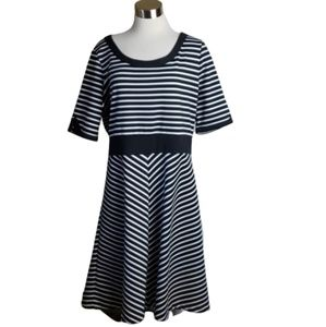 Liz Claiborne Striped Dress Size 16